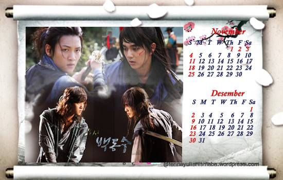 warrior baek dong soo 2012 calendar